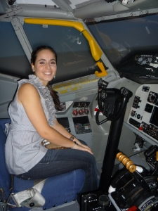 Me piloting the plane! Watch out!
