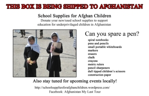 Afghanistan Donation Information Card