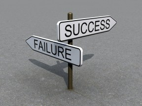 Our culture seems to see success and failure as intrinsically opposed, rather than as one succeeding the other.