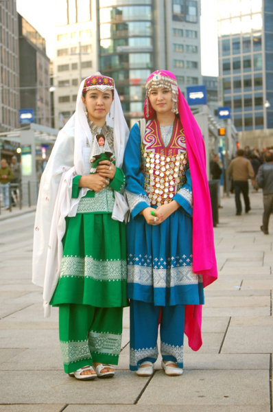 Young Girls in Regional Afghan Dress